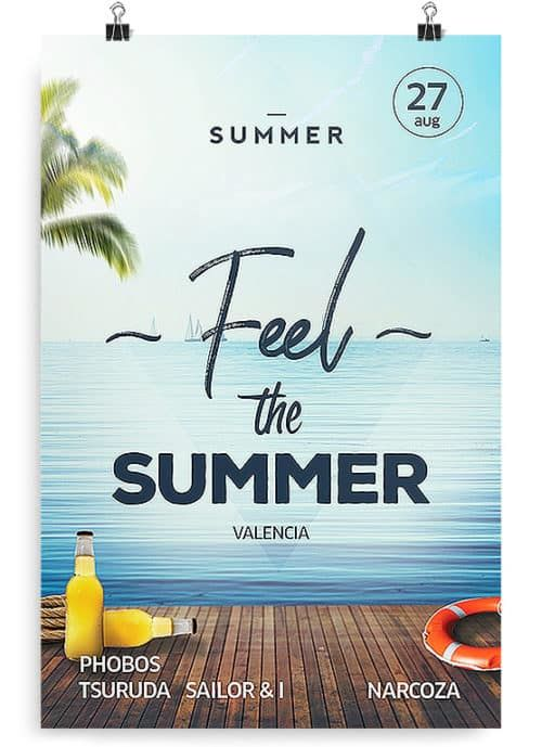 Summer Pool - Clean Free PSD Flyer Template