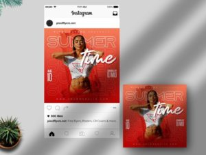 Summer Time Free Instagram PSD Template