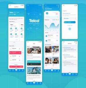 Telco Mobile App Free XD UI kit