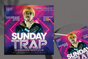 Trap Party Free PSD Flyer Template