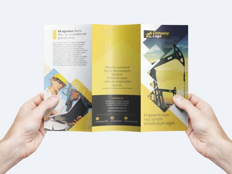 Trifold Brochure PSD Free Template v1
