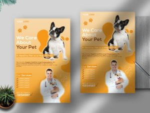 Veterinary Ad Free PSD Flyer Template