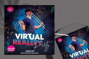 Virtual Event Free PSD Flyer Template