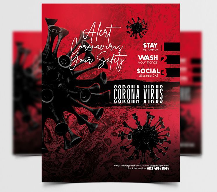 Virus Ad Free PSD Flyer Template