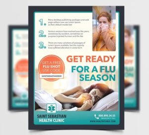 Virus & Medical Free PSD Flyer Template