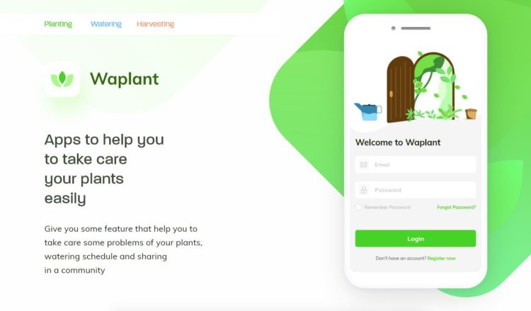 Waplant App Free XD UI kit