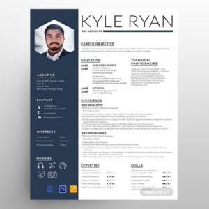 Web Developer CV Resume Free Template