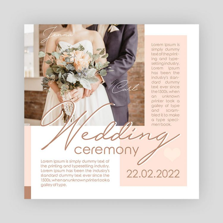 Wedding Ceremony Instagram Free PSD Template