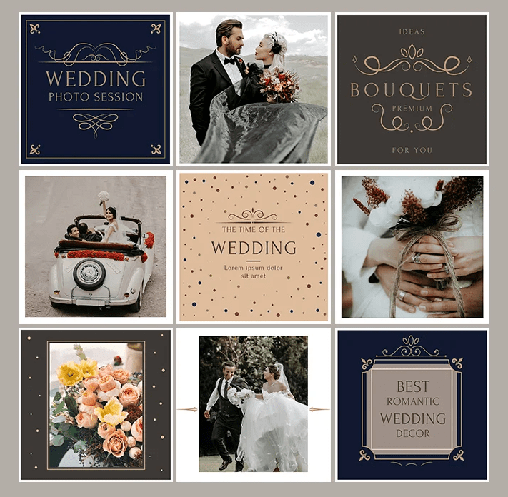 Wedding Free Instagram Banners in PSD