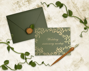 Wedding Stationery Free Mockup