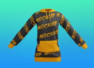 Women's Pullover Hoodie Sweatshirt Free Mockup