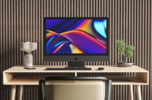 iMac Pro Desk Scene Free Mockup