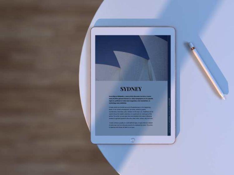iPad with Pen Free Mockup