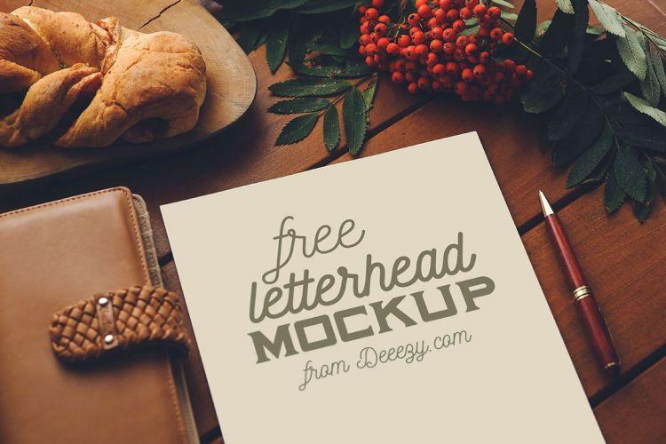 2 Free Letterhead Mockups (PSD)