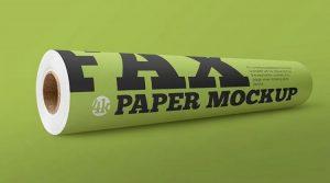 2 Free Matte Fax Paper Roll Mockup
