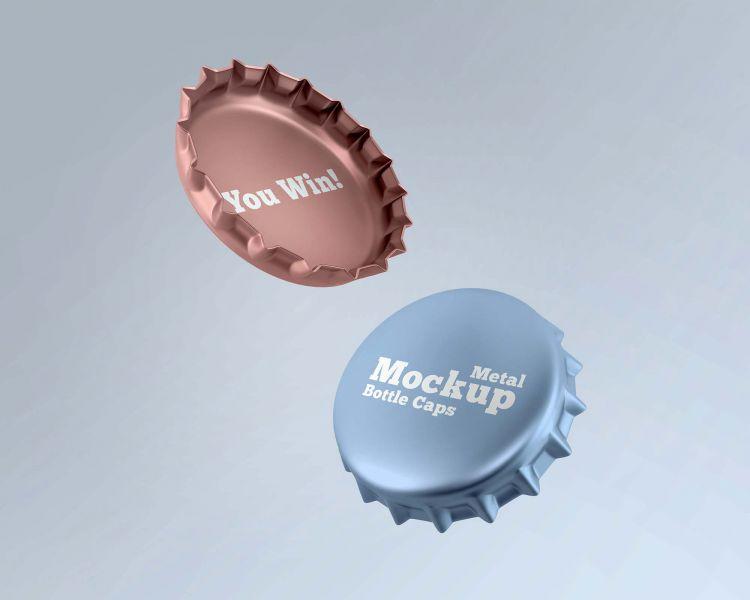 2 Free Metal Caps Mockup (PSD)