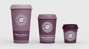 3 Coffee Cup Free Mockup (PSD)