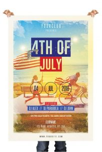 4th of July Free PSD Flyer Template (PSD)