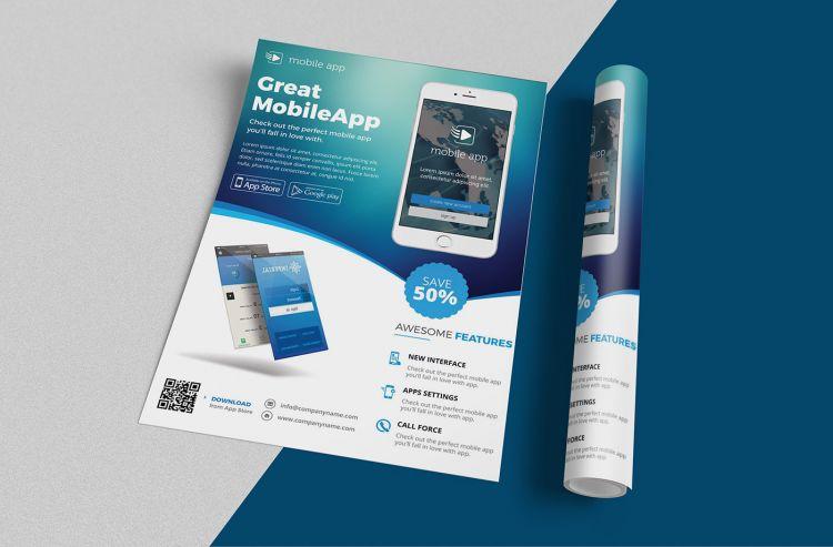 A2 & A4 Free Flyer Mockup (PSD)