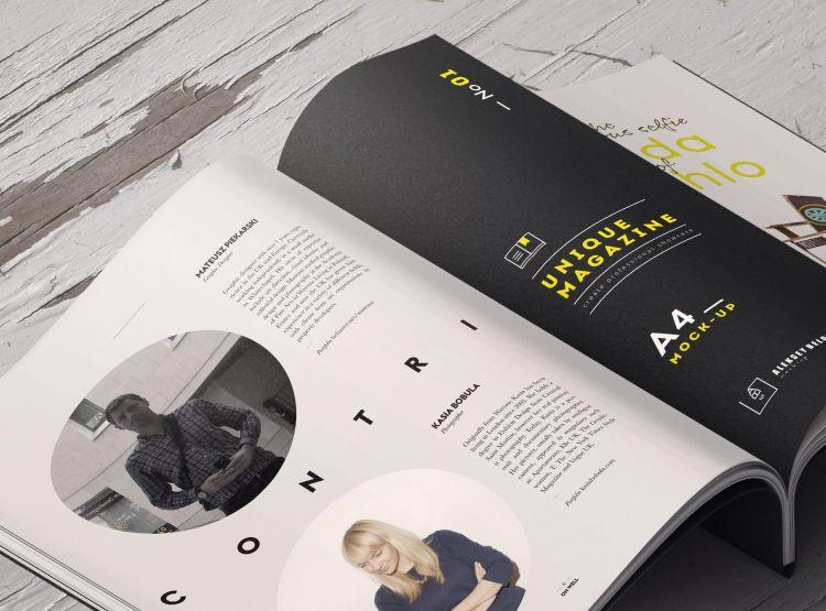 A4 Magazine Scene Creator Free Mockup