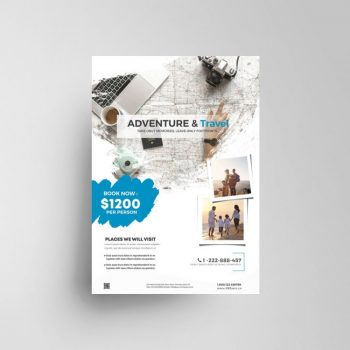 Adventure Travel Ad Free Flyer Template (PSD)