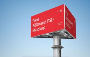Advertising Billboard Free Mockup