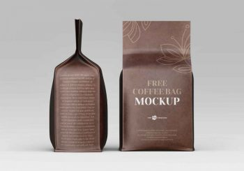 All Sides Coffee Bag Free Mockup
