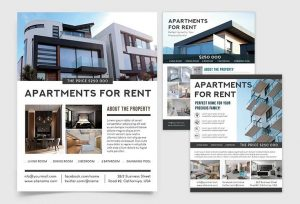 Apartments For Sale Free PSD Flyer Template