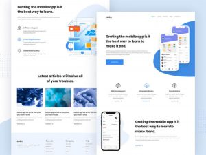 App Landing Page Free XD Template