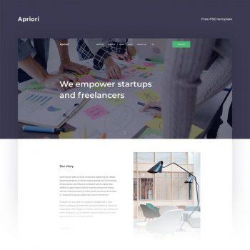 Apriori - Free Creative Agency Web PSD template