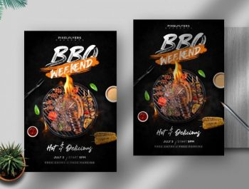 BBQ Weekend Event Free Flyer Template (PSD)