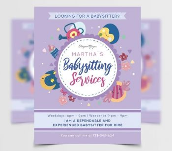 Babysitting Free PSD Flyer Template
