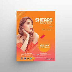 Beauty Salon Minimal Free Flyer Template (PSD)