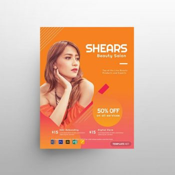 Beauty Salon Minimal Free Flyer Template (PSD)