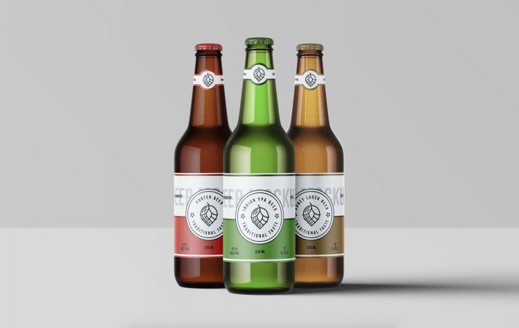 Beer Bottles Free Mockup (PSD)