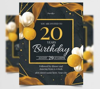 Birthday Celebration Free Flyer Template (PSD)