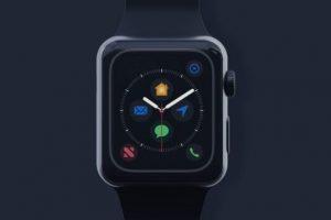 Black Apple Watch Free Mockup Set