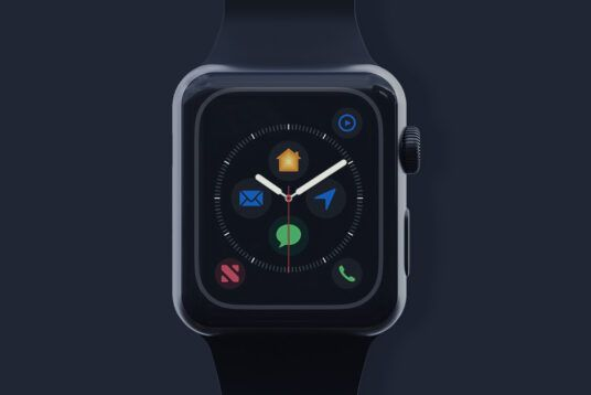 Black Apple Watch Free Mockup Set