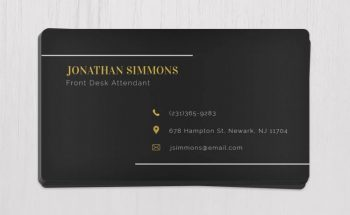 Black Business Card Free PSD Template