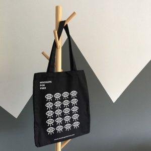 Black Tote Bag Free Mockup