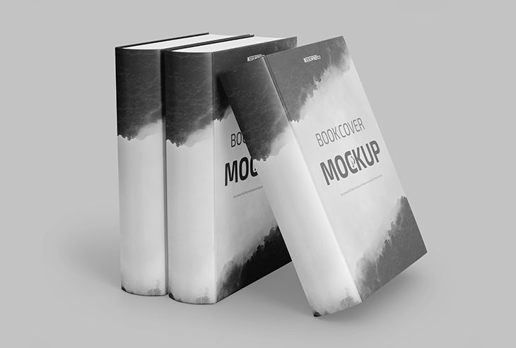 Book Cover Free Mockup (PSD)