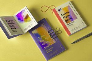 Booklet Notebook Free Mockup Set