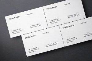 Business Card Showcase Free Mockup