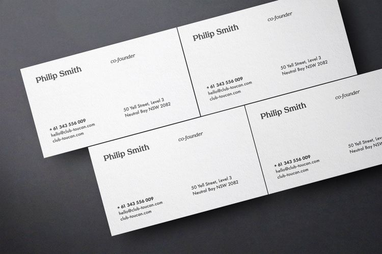 Business Card Showcase Free Mockup