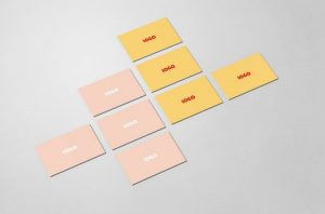 Business Card Top-View Free Mockup