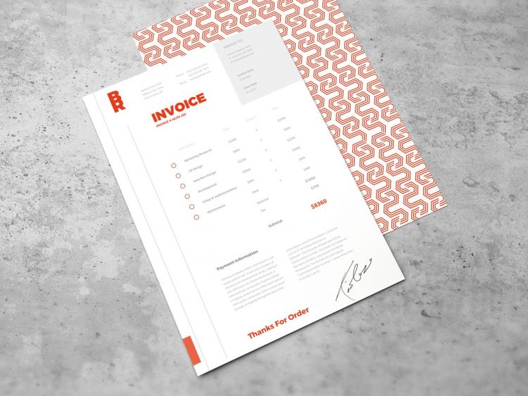 Business Invoice Free Template