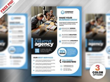 Business Marketing Ad Free Flyer Template (PSD)