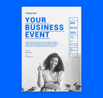 Business Meet Conference Free Flyer (PSD)