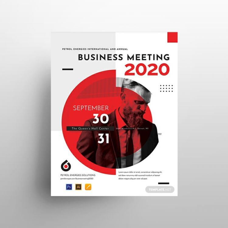 Business Meeting Free Flyer Template (PSD)