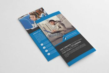 Business Trifold Brochure Free Template (AI)